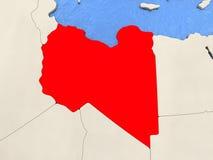 Libya on map Royalty Free Stock Photo