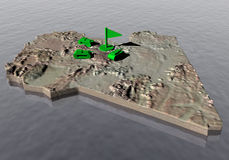 Libya map and tanks. Risiko tanks on libyan territory Stock Images