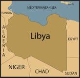libya mapa Obrazy Stock