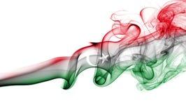 Libya national smoke flag. Libya smoke flag isolated on a white background Royalty Free Stock Photography