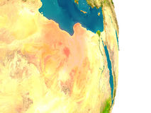 Libya on planet Royalty Free Stock Images