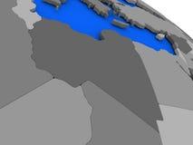 Libya on political Earth model Stock Photography