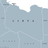 Libya political map Royalty Free Stock Image