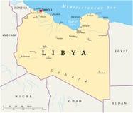 Libya Political Map Stock Images