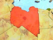 Libya in red Stock Photo