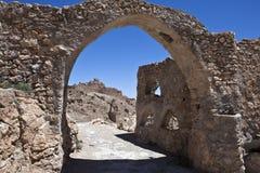 Libya. The riuns of the old Nalut village Stock Photos