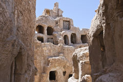 Libya. The riuns of the old Nalut village,the fortified granaries Royalty Free Stock Photography