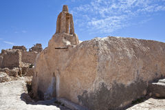 Libya. The riuns of the old Nalut village, a mosque Stock Photo
