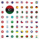Libya round flag icon. Round World Flags Vector illustration Icons Set. Libya round flag icon. Round World Flags Vector illustration Icons Set Royalty Free Stock Photo