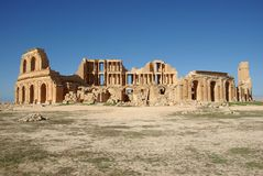 libya rzymski sabratha teatr obrazy stock