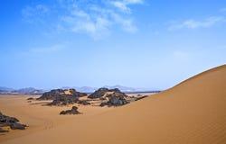 Libya. Sahara desert,the Akakus rocky area Stock Photos
