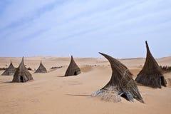 Libya. Sahara desert,a tuareg village in the Ubari lakes area Stock Photo