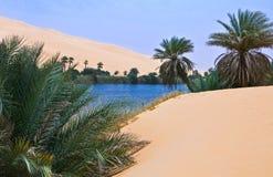 Libya. Sahara desert,the Ubari lakes area Royalty Free Stock Photography