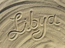 Libya Sand title Stock Image