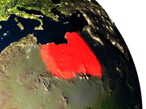 Libya from space Royalty Free Stock Images
