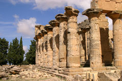 Libya, Temple of Zeus. Libya Cyrene Ruins of Temple of Zeus Cyrene Unesco World Heritage Site Stock Photography