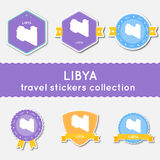 Libya travel stickers collection. Royalty Free Stock Photos
