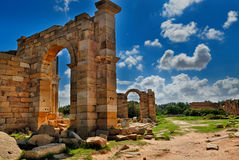 Libya Tripoli Leptis Magna Roman archaeological site Unesco. World Heritage Site royalty free stock photos