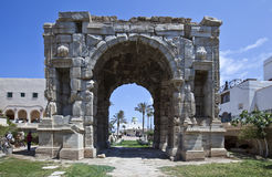 Libya. Tripoli,the Marco Aurelio Arch in the old Medina Royalty Free Stock Photos