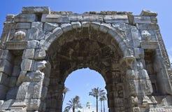 Libya. Tripoli,the Marco Aurelio Arch in the old Medina Stock Photos