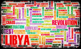 Libya Uprising. Protest and Riot as Concept Royalty Free Stock Photo