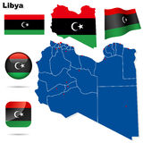 Libya vector set. Stock Image