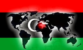 Libya War Flag. Red green black illustration Royalty Free Stock Photography