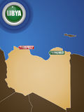 Libya War Map Stock Images
