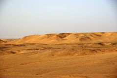 Libyan desert. Landscape in the Libyan part of the Sahara stock image