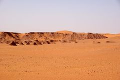 Libyan desert. Landscape in the Libyan part of the Sahara, in Africa stock photo