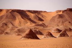 Libyan desert. Landscape in the Libyan part of the Sahara, in Africa royalty free stock photos