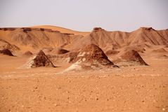 Libyan desert. Landscape in the Libyan part of the Sahara, in LIbya royalty free stock image