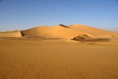 Libyan desert. Sand dunes in the Libyan desert, in Africa royalty free stock images