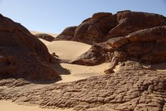 Libyan desert Royalty Free Stock Images