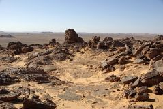 Libyan desert, Royalty Free Stock Photography