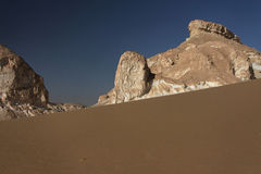 Libyan desert in West Egypt. A dune and rocks in libyan desert of West Egypt royalty free stock photo