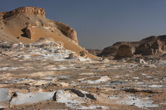 Libyan desert in West Egypt. White formations in libyan desert of West Egypt royalty free stock images