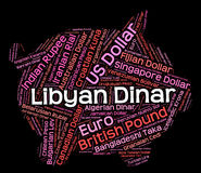 Libyan Dinar Indicates Foreign Exchange And Dinars Royalty Free Stock Photo