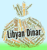 Libyan Dinar Represents Foreign Exchange And Broker Royalty Free Stock Photos