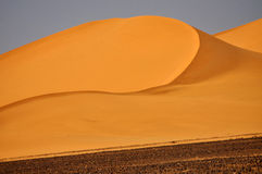 Libyan Dunes. Dunes east of Acucus Ouan Kasa, Western Sahara, SW Libya royalty free stock photos