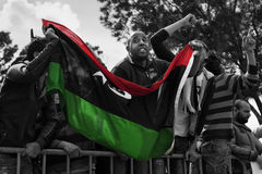 Libyan Embassy Protest Royalty Free Stock Images