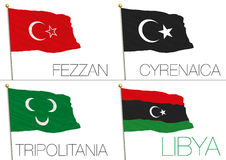 Libyan regional flags Stock Photo