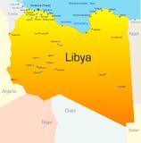 Libyen vektor illustrationer