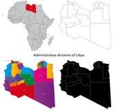 Libyen-Karte Lizenzfreie Stockfotos