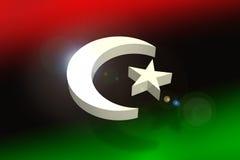 Libyen-Markierungsfahnenkonzept stockfotografie