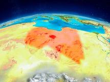 Libyen på jord Arkivbilder