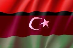 Libyen realistisk flagga Arkivbilder