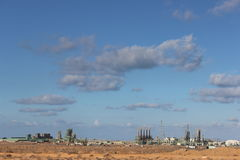 Libyer-sidraoljefält Royaltyfri Foto