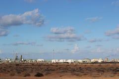 Libyer-sidraoljefält royaltyfria foton