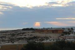 Libyer-sidraoljefältstad Arkivbild